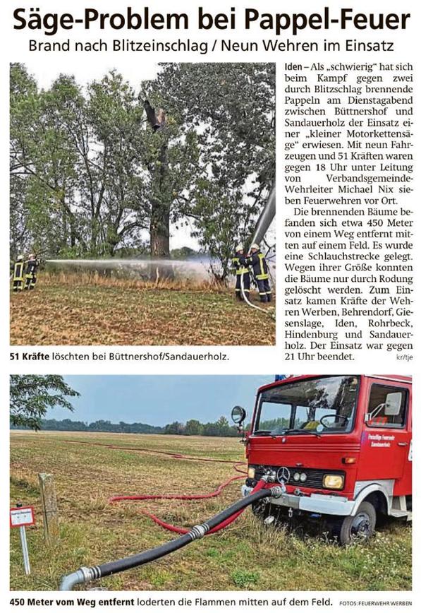 Bericht Altmark Zeitung