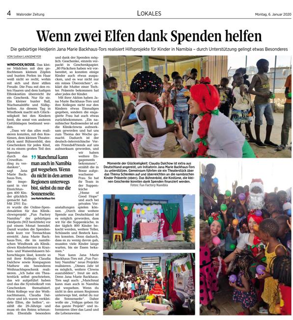Walsroder Zeitung, 06.01.2020