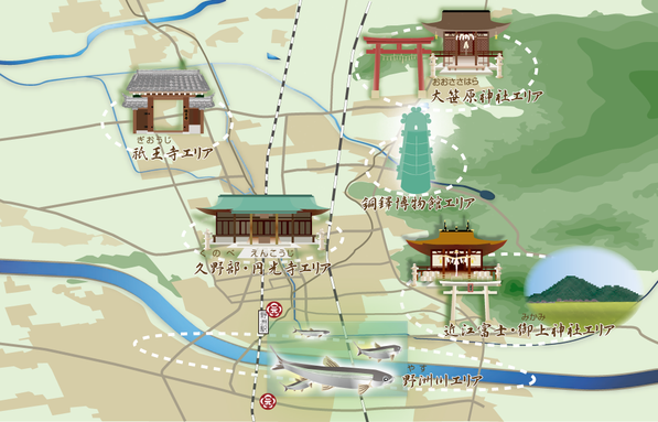 イラストマップ/滋賀県野洲市 和菓子梅元老舗 様