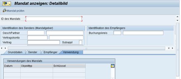 SEPA SAP FS-CD Mandat anzeigen  www.hettwer-beratung.de