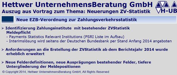 Zahlungsverkehrsstatistik Payments Statistics Relevant Institutions PSRI §3 BBankG Stabilität Zahlungsverkehr & Verrechnungssysteme ZVStatistik ZVS1 ZVS2 ZVS3 ZVS4.A ZVS4.W ZVS5.A ZVS5.W ZVS8.A ZVS8.W Klaus Georg Hettwer UnternehmensBeratung GmbH