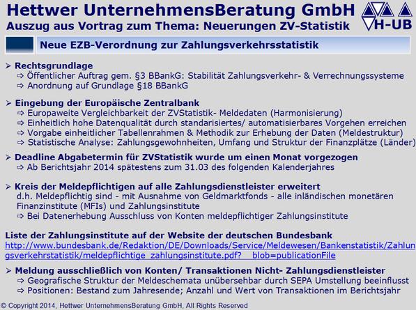 Zahlungsverkehrsstatistik Meldepflicht Zahlungsdienstleister monetären Finanzinstitute MFIs §18 BBankG ZVStatistik ZVS1 ZVS2 ZVS3 ZVS4.A ZVS4.W ZVS5.A ZVS5.W ZVS8.A ZVS8.W Klaus Georg Hettwer UnternehmensBeratung GmbH