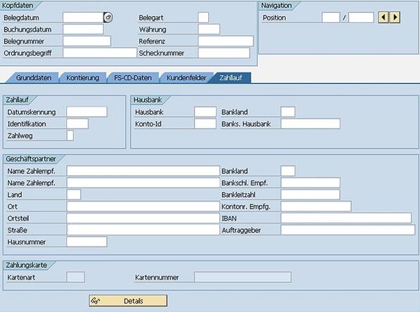 SEPA SAP FS-CD Zahlungsausgang www.hettwer-beratung.de