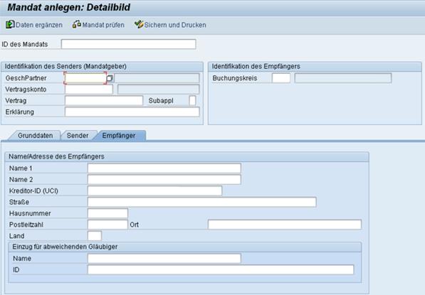 SEPA SAP Mandat anlegen Empängwer www.hettwer-beratung.de