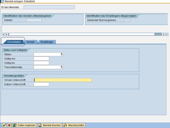 SEPA SAP Mandat anlegen www.hettwer-beratung.de