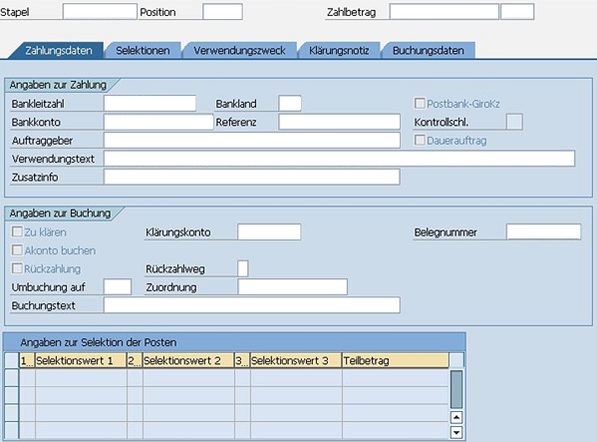 SEPA SAP FS-CD Zahlungseingang www.hettwer-beratung.de