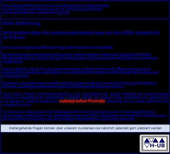 SEPA Migration Umstellung Einzugsermächtigung Mandate www.hettwer-beratung.de