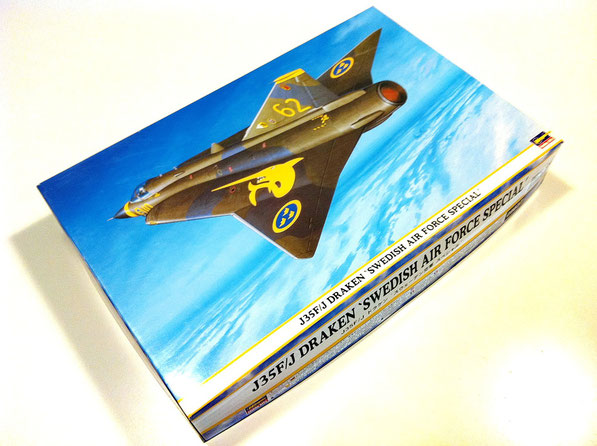 "Saab J35F/J Draken ""Swedish Air Force Special""- Hasegawa modelkit scale 1:48 + BigEd (photoetched detail set & mask) Eduard + Full detail set AIRES"