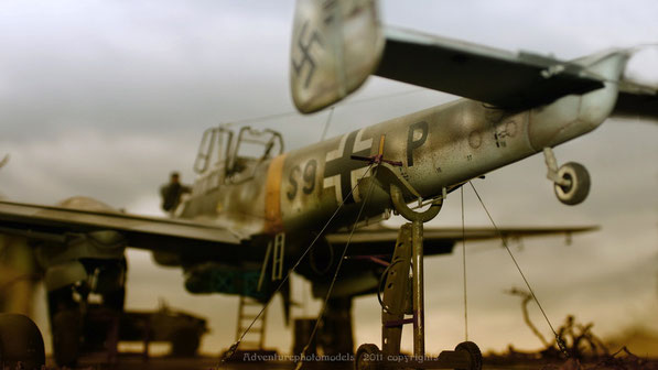 "Messerschmitt Bf 110 C/7 by Dragon model kit scale 1:32 in "" Shooting test """