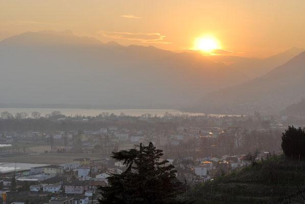 Abendstimmung über dem Lago Maggiore