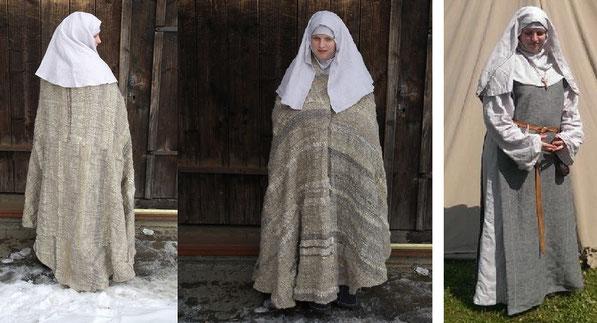 Handgewebte Ausstattung für eine hochmittelalterliche Ordenfrau ( Nonne )