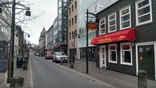 Verlassene Straßen in Reykjavik