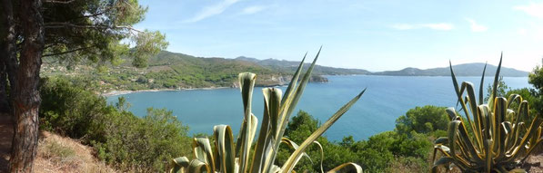 Blick vom Lacona-Trekkingpark in Richtung Capoliveri