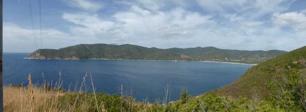 Blick auf die Bucht von Lacona