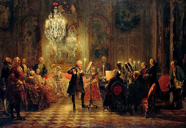 Adolph v. Menzel 1852 ( Fluitconcert in Sanssouci )