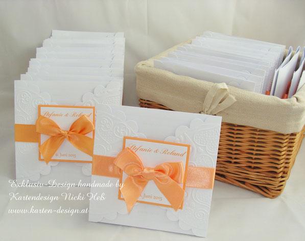 Hochzeitseinladung von Kartendesign Nicki Heß, exklusiv und außergewöhnlich, Einladungen zur Hochzeit in aufwendiger Handarbeit, auch im Kartenshop erhältlich