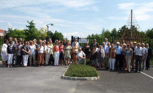 Inauguration du parc Dannstadt-Schauernheim à Bétheny le 5 juin 2011.