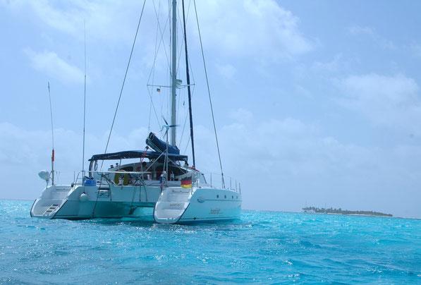 Lieblingsankerplatz zwischen den Tobago Cays / SVG