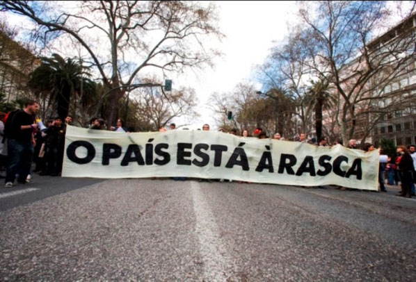 """Sociale bevægelsers demo i Lissabon: """"Landet er skrantende"""""""