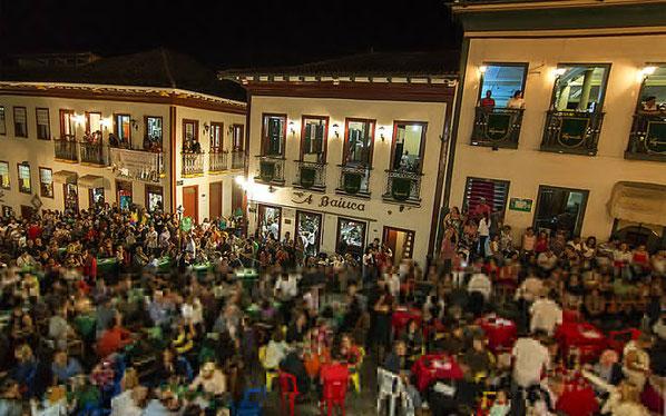 A Vesperata, antes da Covid, na Rua da Quitanda