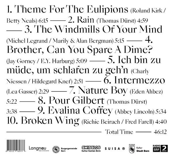 Thomas Dürst Trio - Other Songs (backcover)