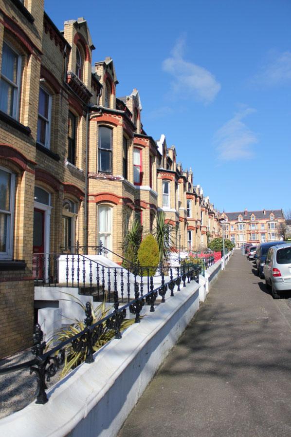 ハッチンソン広場周辺に階段状に密集した家々