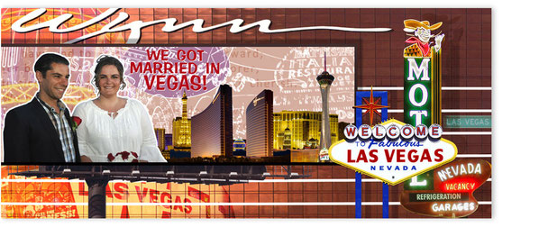 """Kundenbildbearbeitungsbeispiel, """"Hochzeitsbild, Las Vegas""""."""
