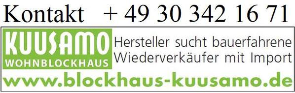 Wir suchen Baupartner mit Vertrieb in Deutschland - Blockhäuser zum Wohnen in echter massiver Blockbauweise - Hochwertige massive Holzhäuser in Blockbauweise  -  Kooperation - Baufachberater - Architekt -  Wiederverkäufer - Statiker - Bauberater