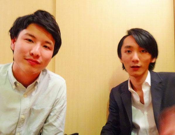 (左)植木大介さん (右)中嶋 汰朗さん