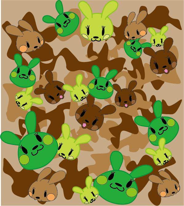 ウサギ迷彩