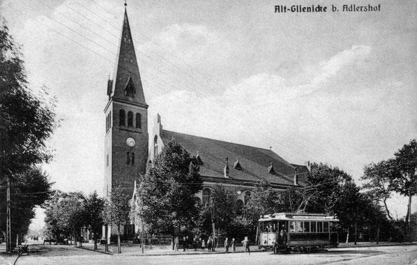 Die hiesige neue Kirche 1909