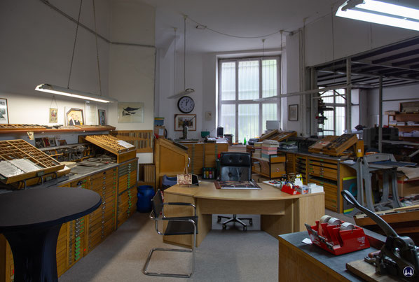 Blick in die Druckerei.