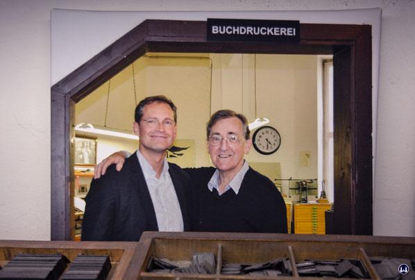 Michael Müller mit seinem verstorbenen Vater Jürgen Müller.