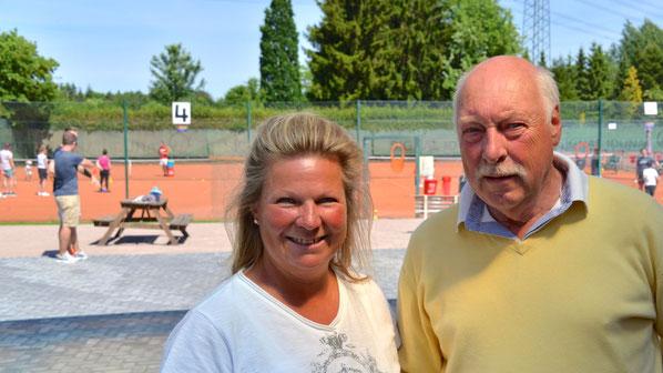 Pressesprecherin Sabine Dahlem und Sportwart Behrend Körner freuten sich über die gelungene Schnupper-Aktion.