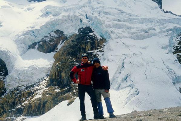 mit unserem Freund Richard in der Cordillera Huayhuash