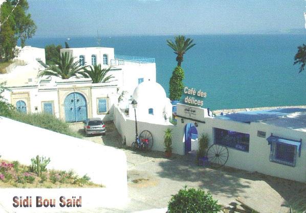 Karte aus Sidi Bou Saïd / Tunesien