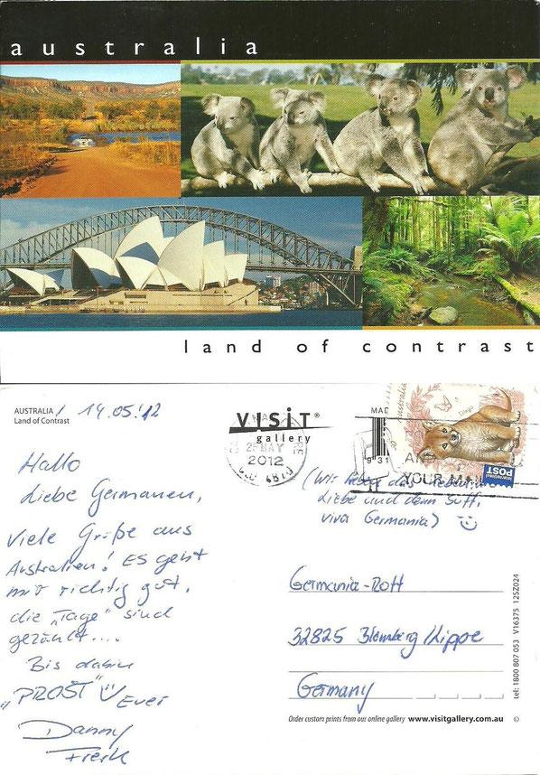 Postkarte aus Australien