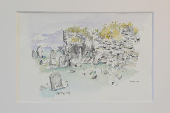 Trinity Temple (Isle of North Uist, sold) 26.5cmx32.5cm