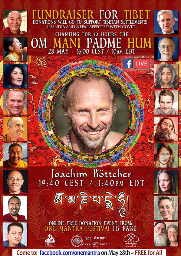 Kostenfreies Online Mantra Konzert: mit Joachim Böttcher und vielen weiteren Musikern / innen und Mantrasänger / innen.