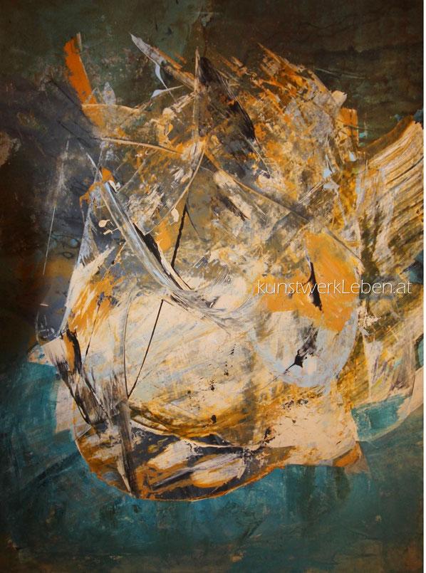 GREGOR, Acryl auf Leinwand, 58cm breit x 75cm hoch
