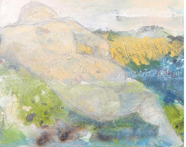 FRAU GOLIATH, Acryl auf Leinwand, 75cm breit x 58cm hoch