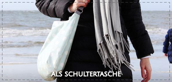 Julia Design handmade Tasche Handtasche Umhängetasche crossbody Stofftasche wasserabweisend Lene