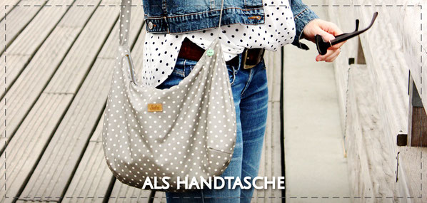Julia Design handmade Tasche Handtasche Umhängetasche crossbody Stofftasche wasserabweisend kleine Lene