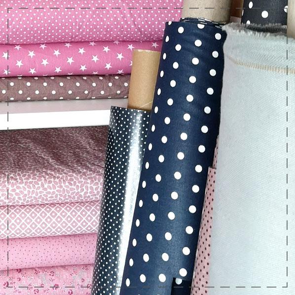 Julia Design Stoff Baumwolle wasserabweisend handmade Handarbeit nähen