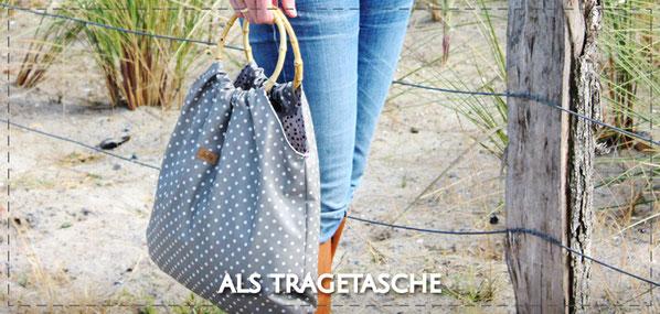 Julia Design handmade Tasche Tragetasche Stofftasche wasserabweisend Adele