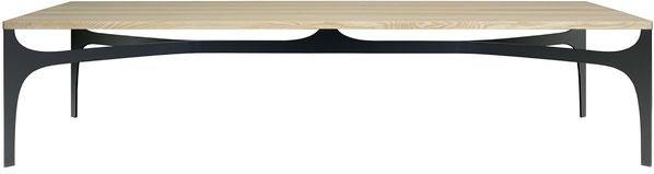 IGN OSCAR Tischplatte Massivholz 40 mm dick, abgerundete Tischecken, Untergestell Vollstahl gebogen, schwarz pulverbeschichtet