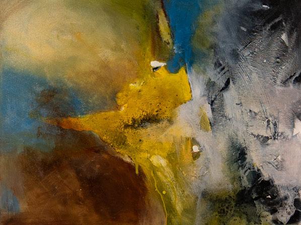 "Nr. 2 / DJINA KROATH / ""Spurensuche"", Acryl auf Leinwand, 80x60cm, 300,-€"