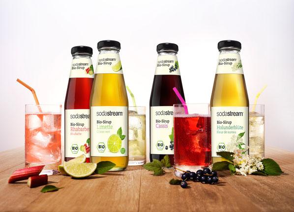Die neuen «Bio-Sirups» von SodaStream bestehen zu 100 Prozent aus rein biologisch angebauten Zutaten.