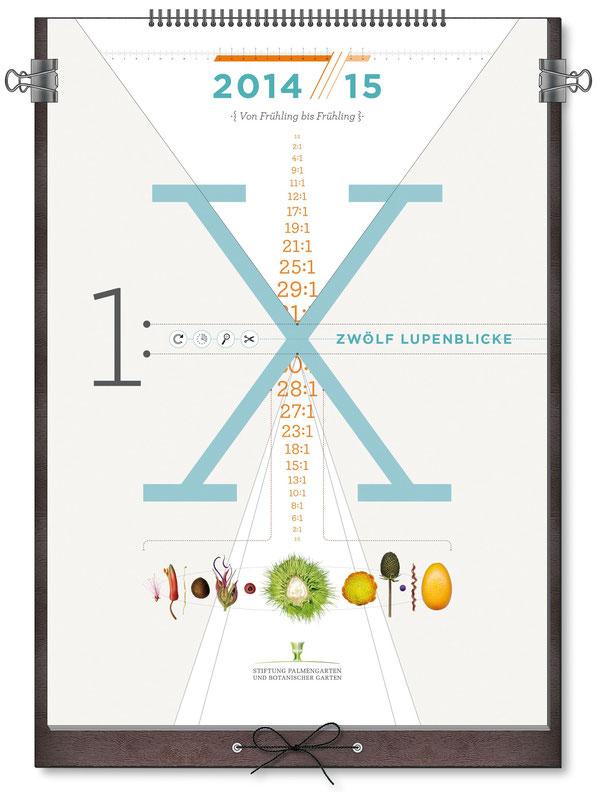 Titelblatt des ausgezeichneten Kalenders der Stiftung Palmengarten und Botanischer Garten in Frankfurt.