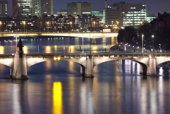 Brücken bauen - auch das ist ein Aspekt des Smalltalks. Im Bild: Zwei Rheinbrücken in Basel.
